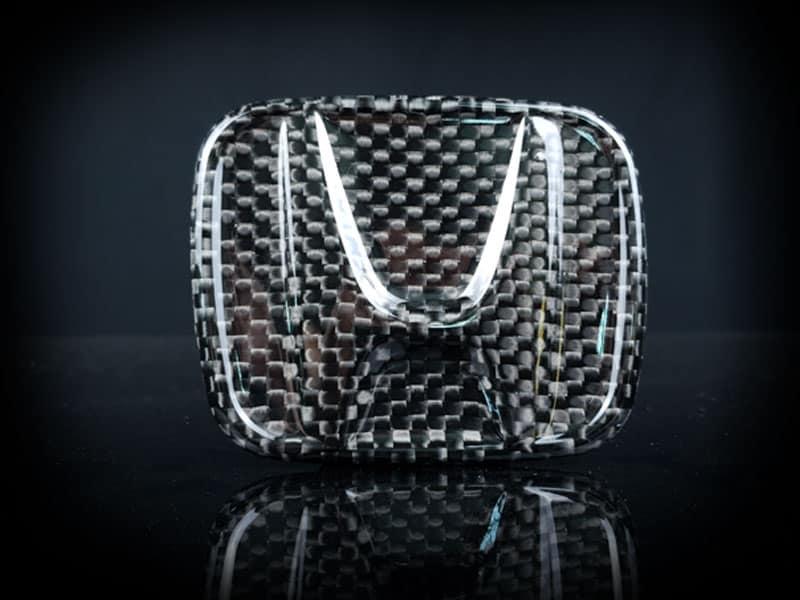 carbon fiber honda emblem type i