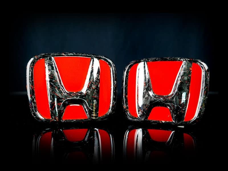 carbon fiber honda emblem type ii